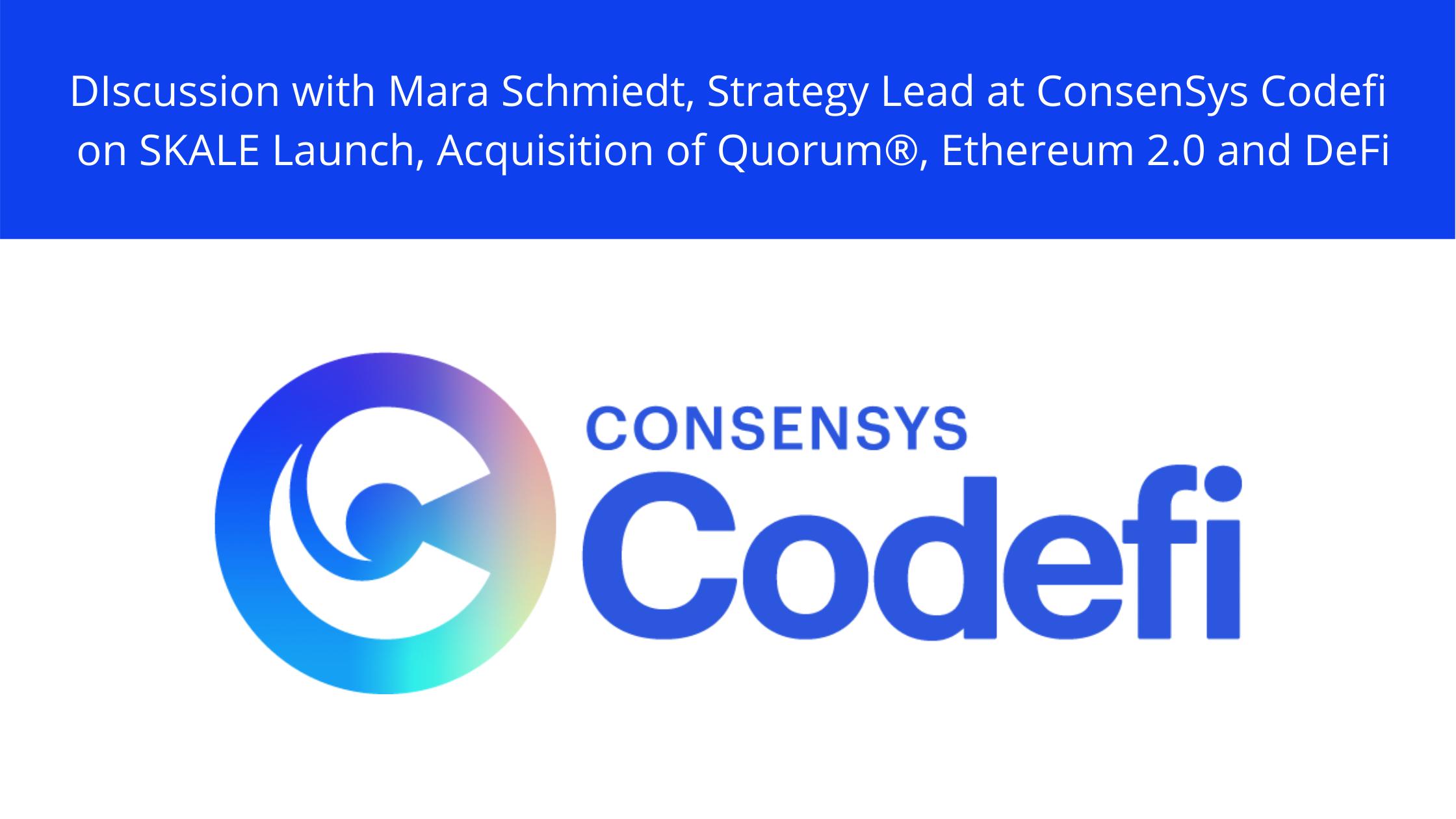 Mara Schmiedt Consensys CodeFi DeFi